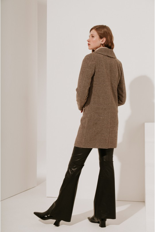 Классическое укороченное пальто (есть пояс)