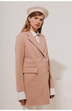 Пальто укороченное на 2 пуговицы