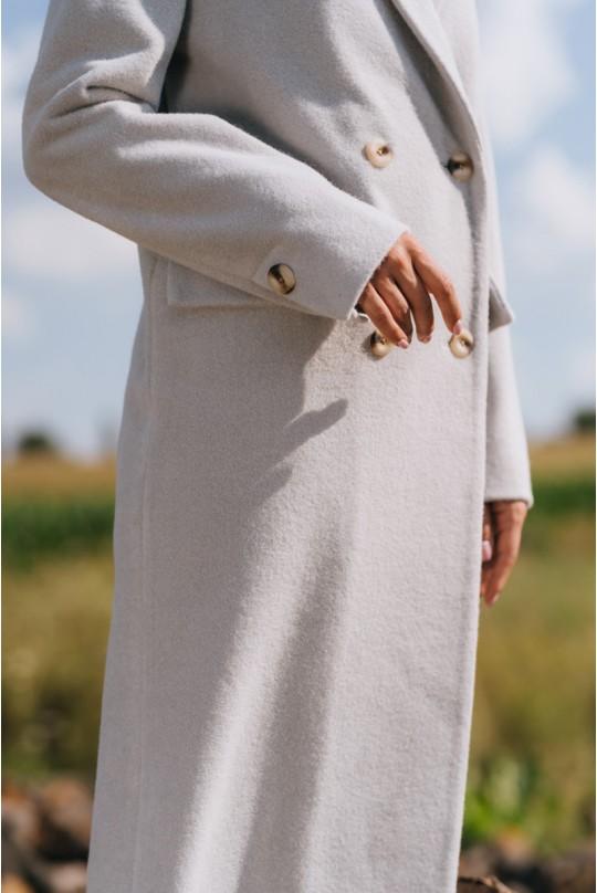 Пальто женское Valentir в мужском стиле на 4 пуговицы