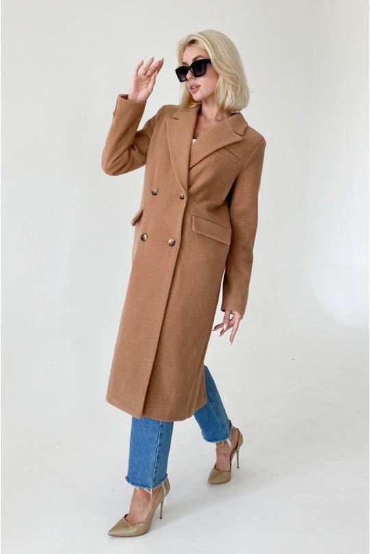 Пальто женское Valentir в мужском стиле строгое на 4 пуговицы