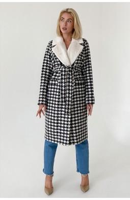 Пальто женское длинное Valentir в классическом стиле под пояс