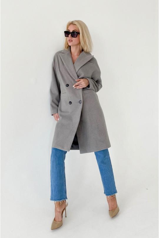 Пальто женское Valentir со спущенной линией плеча прямого силуэта
