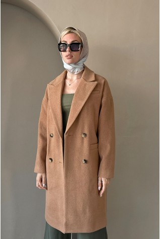 Пальто женское Valentir с плавно спущенной линией плеча прямого силуэта