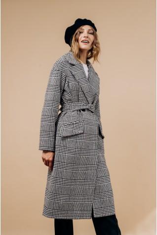 Пальто длинное со спущенным плечом тип 4 (Есть пояс)