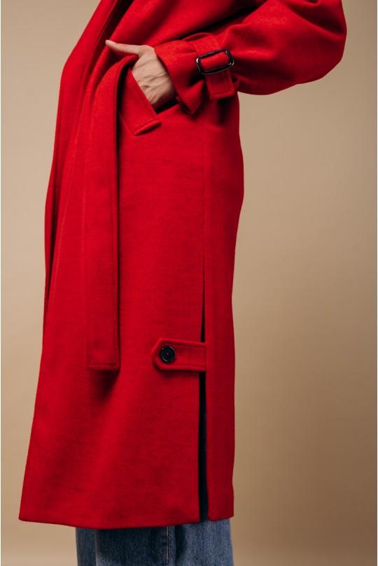 Пальто женское Valentir длинное с распорками по бокам
