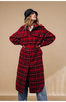 Пальто-рубашка Valentir длинное с поясом