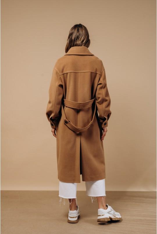 Пальто Valentir в рубашечном стиле Кэмел