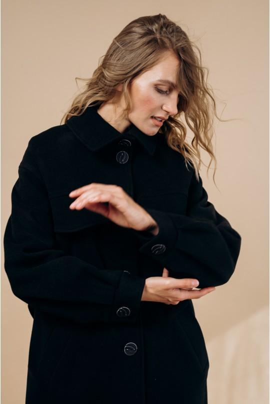 Пальто Valentir в рубашечном стиле Черный