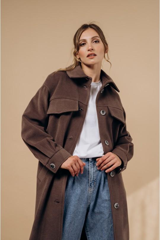 Пальто Valentir в рубашечном стиле Графит