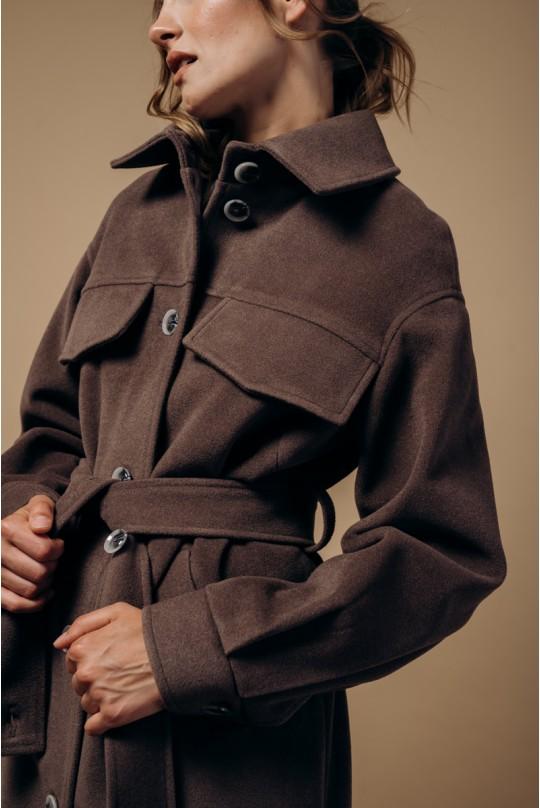 Пальто женское Valentir в рубашечном стиле