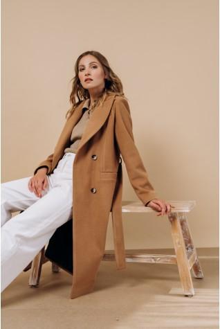 Пальто классическое двубортное Valentir Кэмел