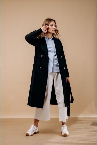 Пальто классическое двубортное Valentir Черный