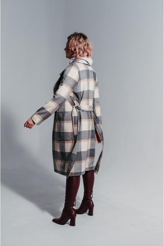 Пальто женское Valentir в классическом стиле с поясом