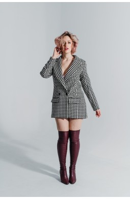 Пальто-пиджак Valentir удлиненный Гусиная лапка
