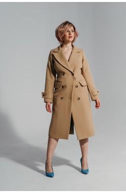 Пальто Valentir полуприталенный силуэта Бежевый