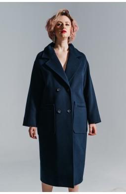 Пальто OVERSIZE Valentir Глубокий синий