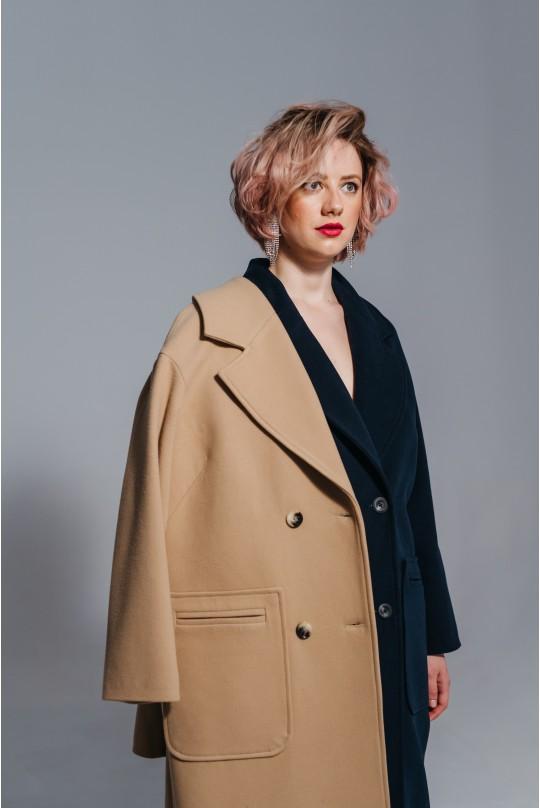 Пальто женское Valentir со спущенным плечом Oversize