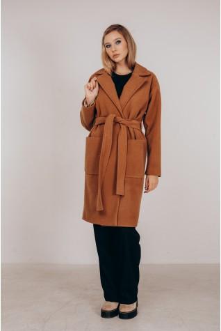 Пальто женское Valentir по колено с потайной застежкой