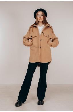 Демисезонное пальто-рубашка Valentir с фигурным низом