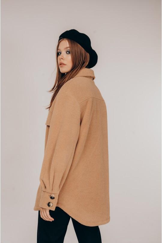 Пальто-рубашка Valentir короткое Кэмел