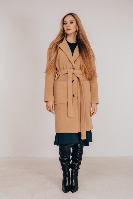 Пальто со спущенным плечом Valentir Кэмел