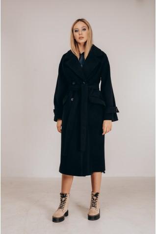 Пальто женское Valentir свободного кроя под пояс