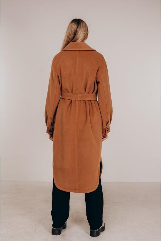 Стильное пальто-рубашка Valentir Кэмел