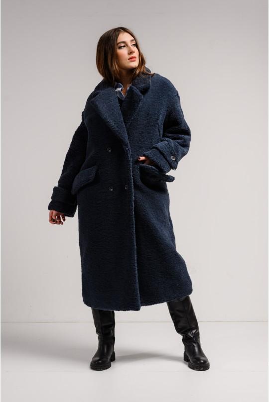 Пальто Valentir из искусственного меха Глубокий синий