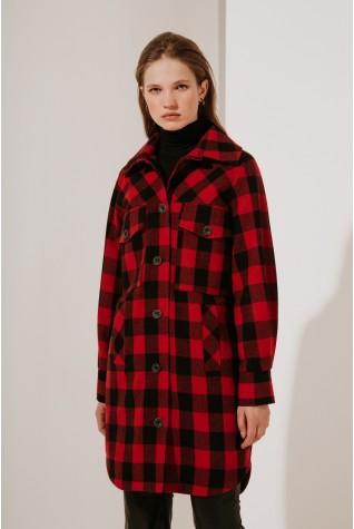 Пальто-рубашка Valentir длинное с кокеткой