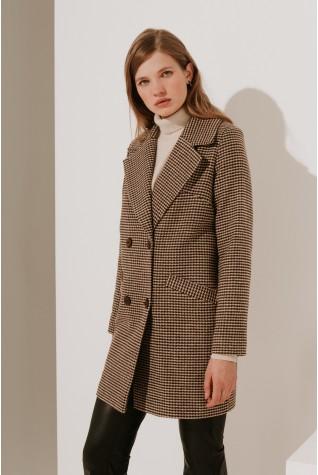 Пальто классическое Valentir укороченное 3023 (с поясом)