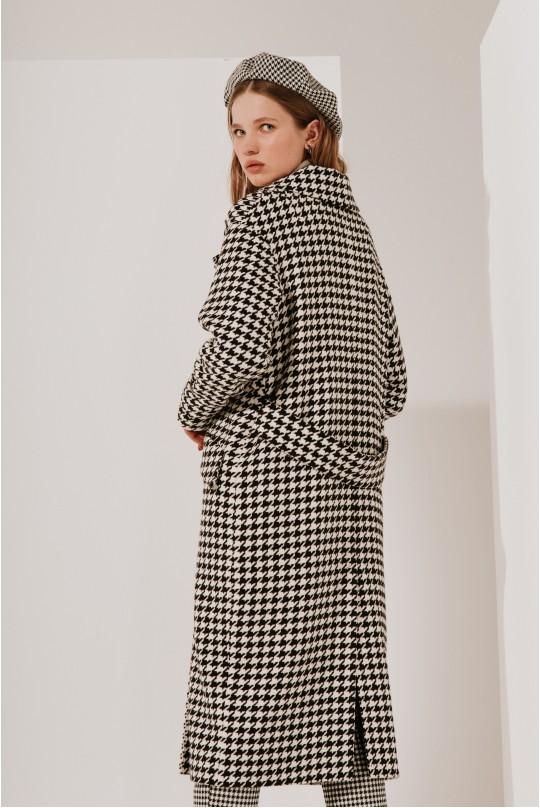 Пальто длинное Valentir с хлястиками