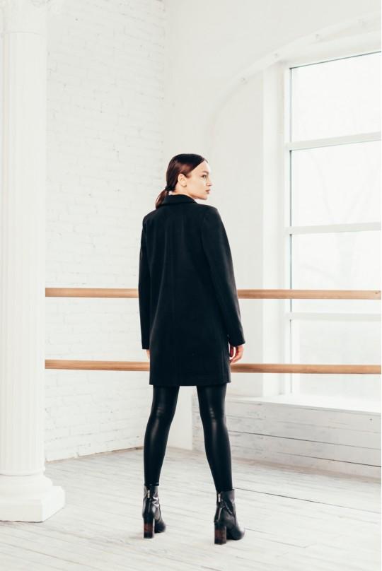 Пальто укороченное Valentir Черное
