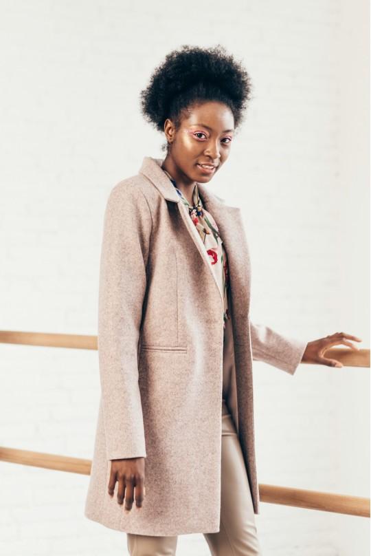 Пальто укороченное Valentir Пудра