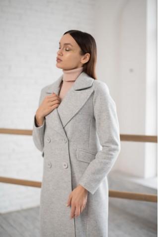 Пальто Серое на 4 пуговицы