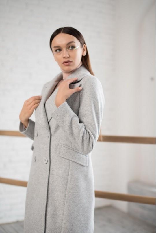 Пальто на 4 пуговицы Valentir Серое
