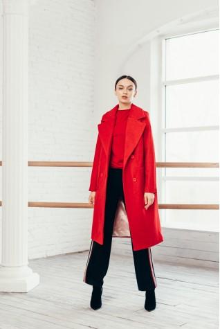 Пальто женское Valentir длинное с накладными карманами