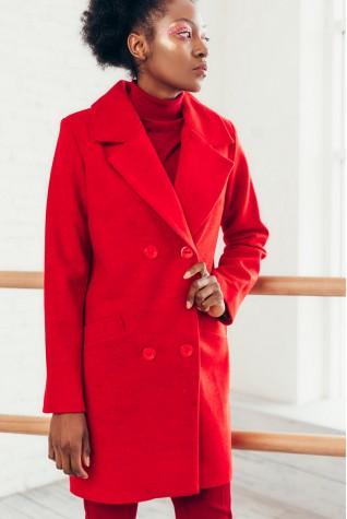 Пальто укороченное Valentir Красное