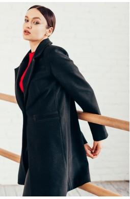 Пальто укороченное черное