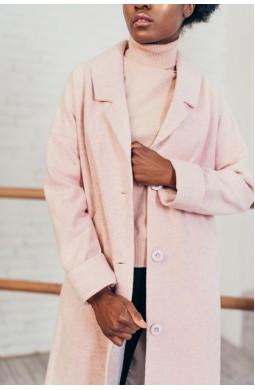 Пальто однобортное со спущенным плечом
