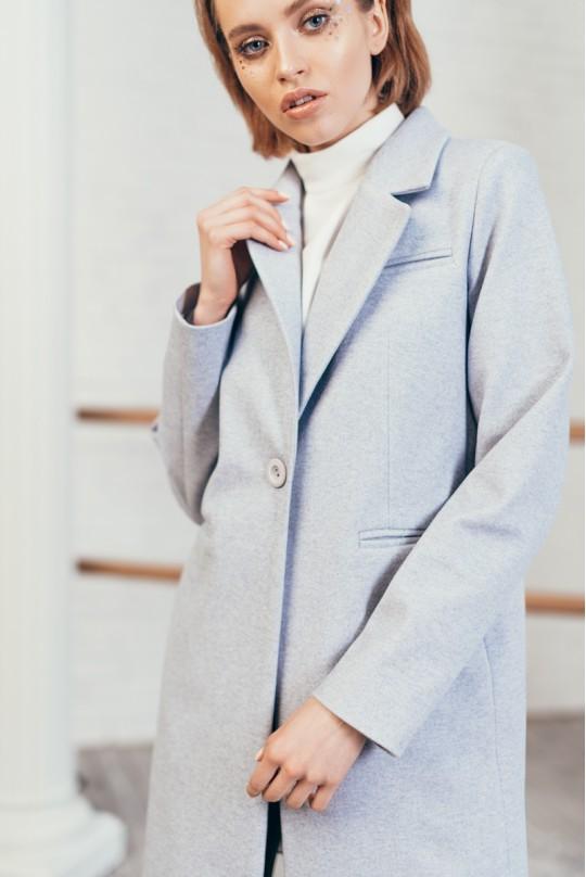 Пальто женское Valentir укороченное на одну пуговицу