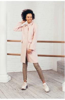 Пальто до колена Valentir 4 кармана Розовый