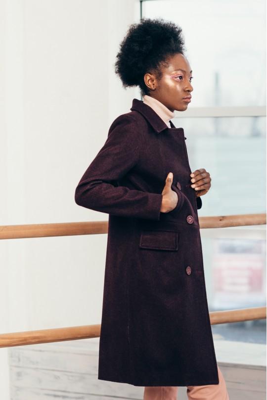 Пальто до колена 4 кармана