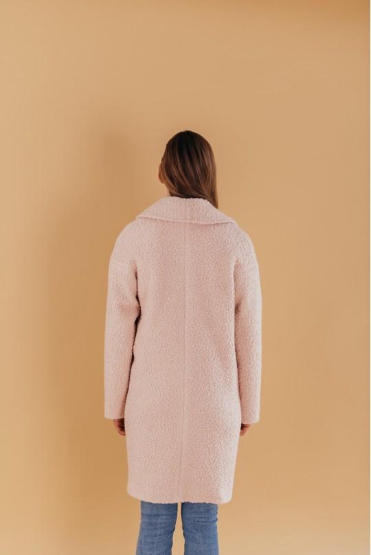 Пальто двубортное Valentir OVERSIZE Розовый