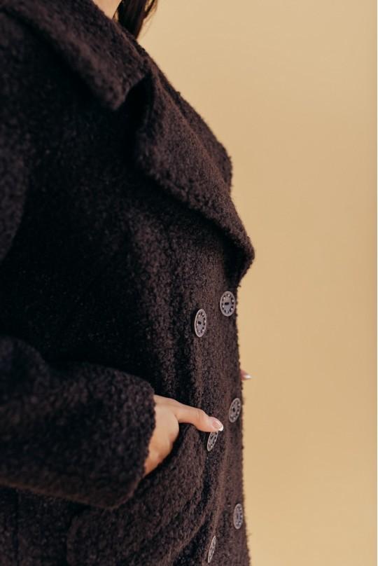 Пальто двубортное Valentir OVERSIZE Темный шоколад