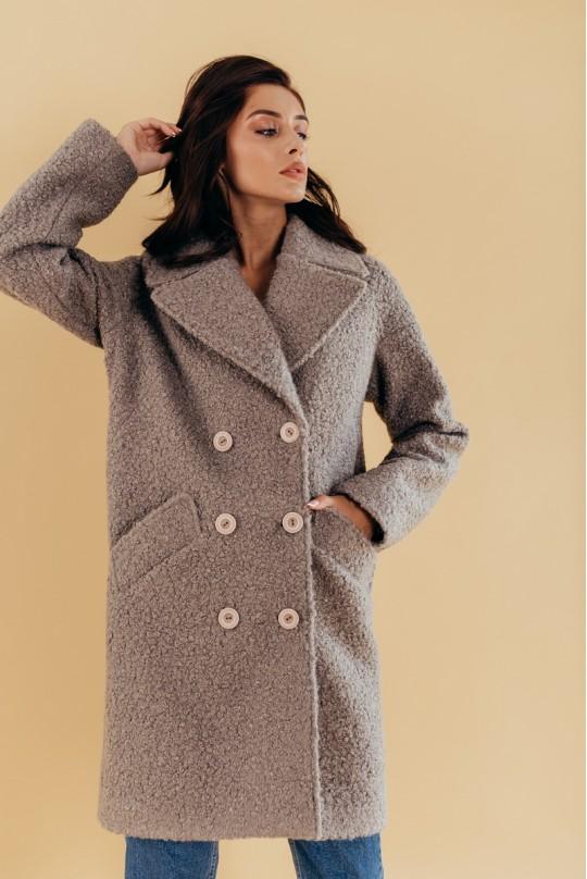 Пальто женское Valentir двубортное оверсайз