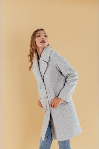 Пальто OVERSIZE двубортное шерсть