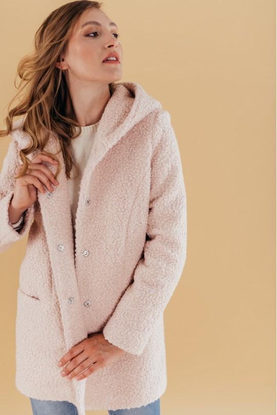 Пальто с капюшоном Valentir Розовый