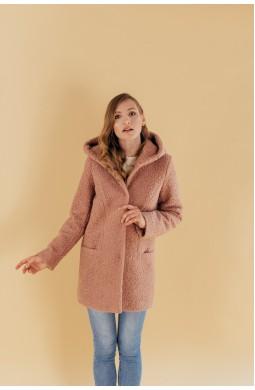 Пальто с капюшоном Valentir Бежевое