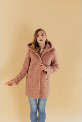 Пальто с капюшоном Valentir Беж