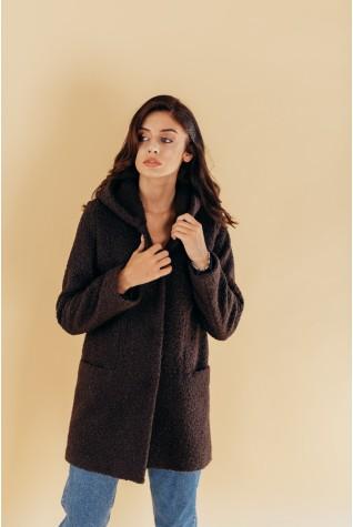 Пальто женское демисезонное Valentir с капюшоном